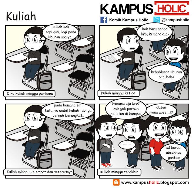 #130 komik Kuliah kampus holic