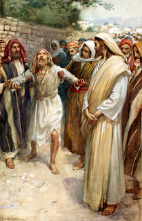 Healing Blind Bartimaeus by Harold Copping