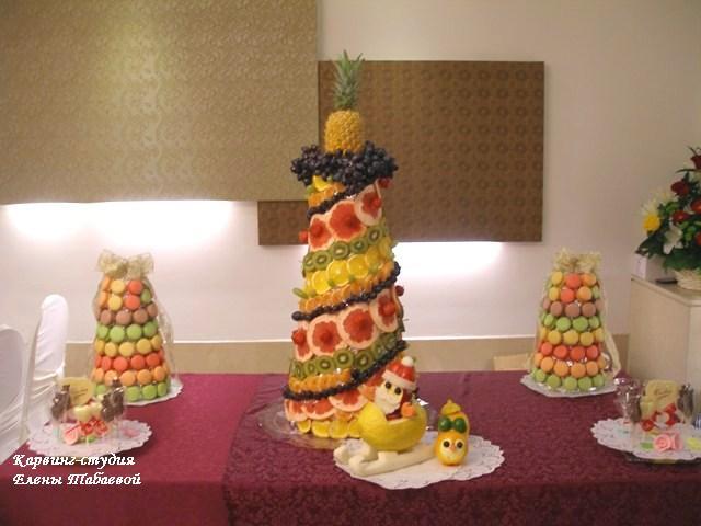 карвинг-студия башни из фруктов и сладостей южно-сахалинск