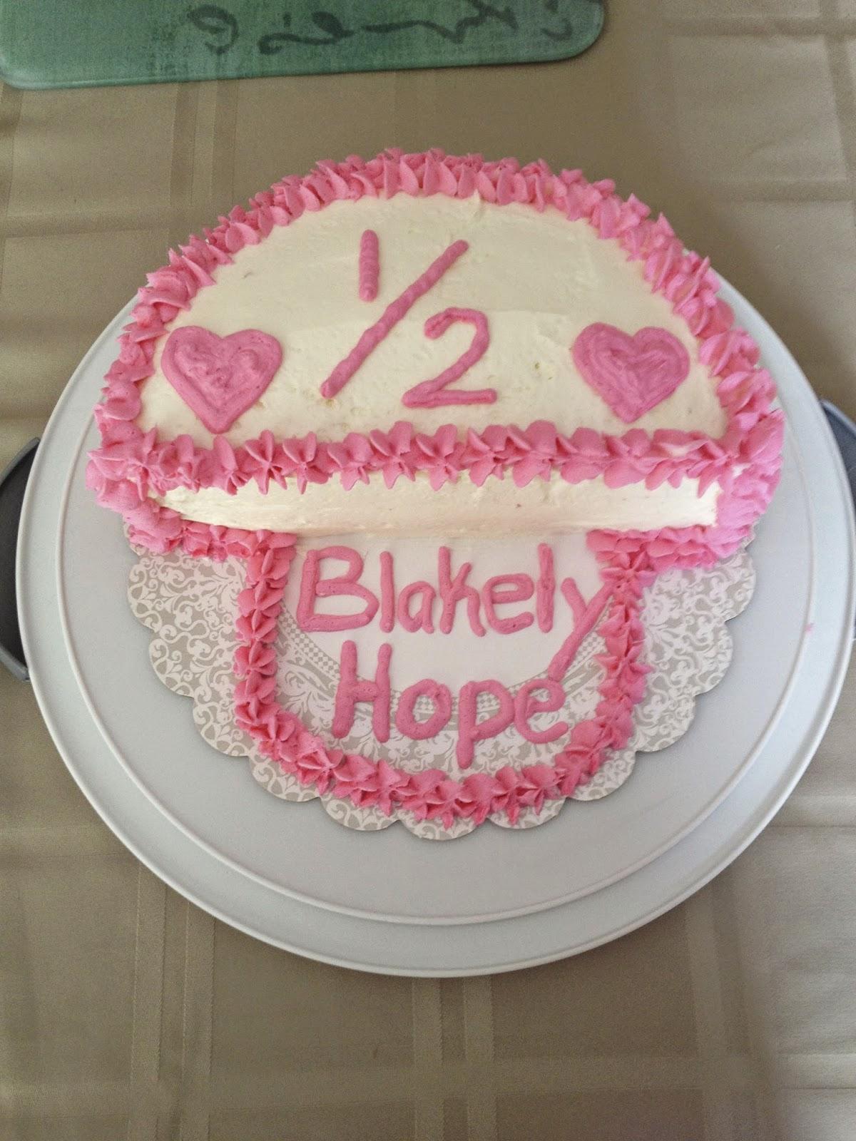 Her 1 2 Birthday Cake