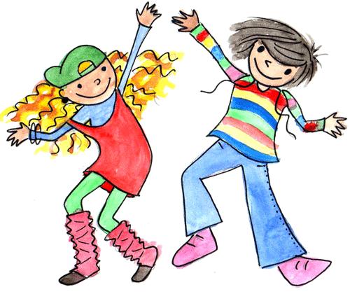 Niños bailando para imprimir