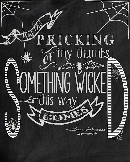 Shakespeare Halloween Printable