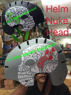 Helm Nuke Head Batok Bmx Dj Skate Majuroyal