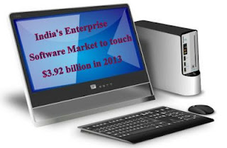 Gartner said that the enterprise software market in India to touch $3.92 billion in 2013.