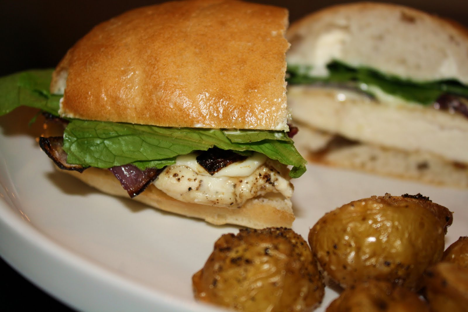 ... chicken, onion, and mozzarella sandwiches with roasted potatoes... 35