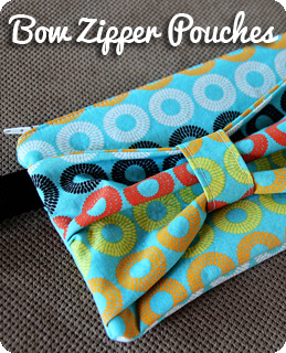 Bow Zipper Pouches