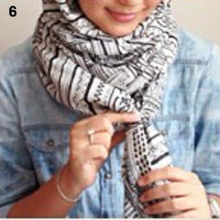 Cara Memakai Jilbab Kreasi JIlbab Pashmina Scraf Simple Terbar