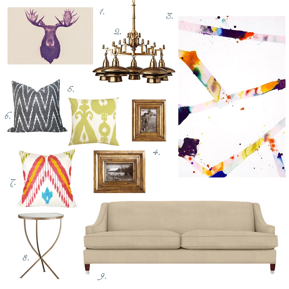 Bright July Styled Sam Francis Inspired Living Room