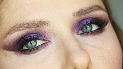 makyaj uygulamaları, youtube videoları, purple eye makeup,