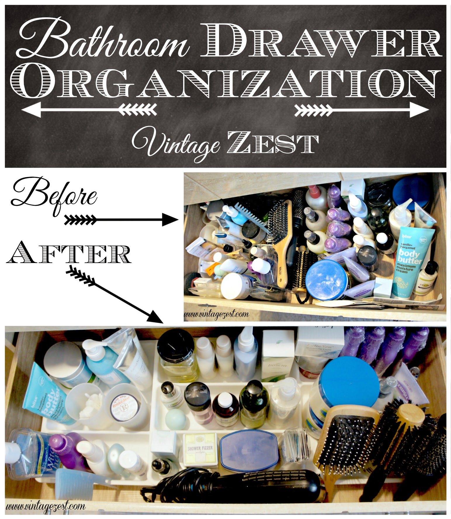 Organizing my Bathroom Drawer for Spring Cleaning! on Diane's Vintage Zest!
