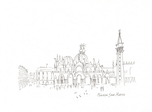Line Drawing Venice : Everyday artist sketchbook journeys italy piazza san