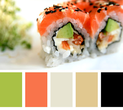 Sushi Color Palette for an Office