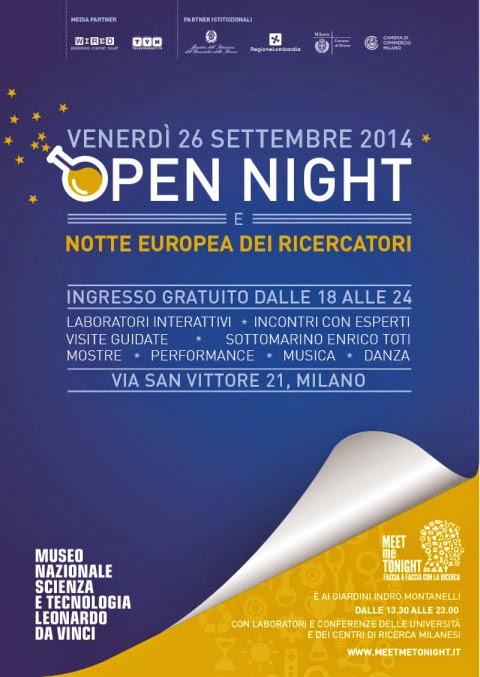 venerdì 26 settembre il Museo Nazionale della Scienza e della Tecnologia Leonardo da Vinci propone un'apertura straordinaria serale gratuita, dalle 18.00 a mezzanotte