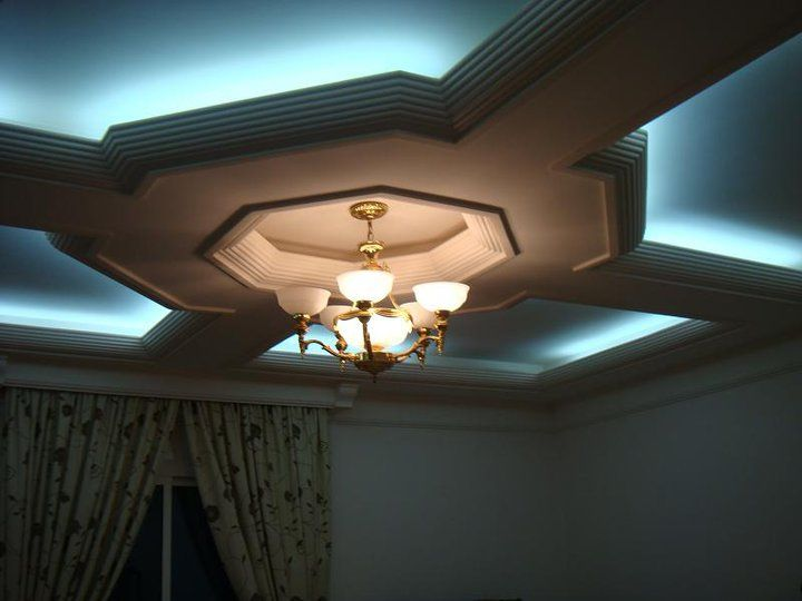 white gypsum false ceiling designs for living room with lighting glow