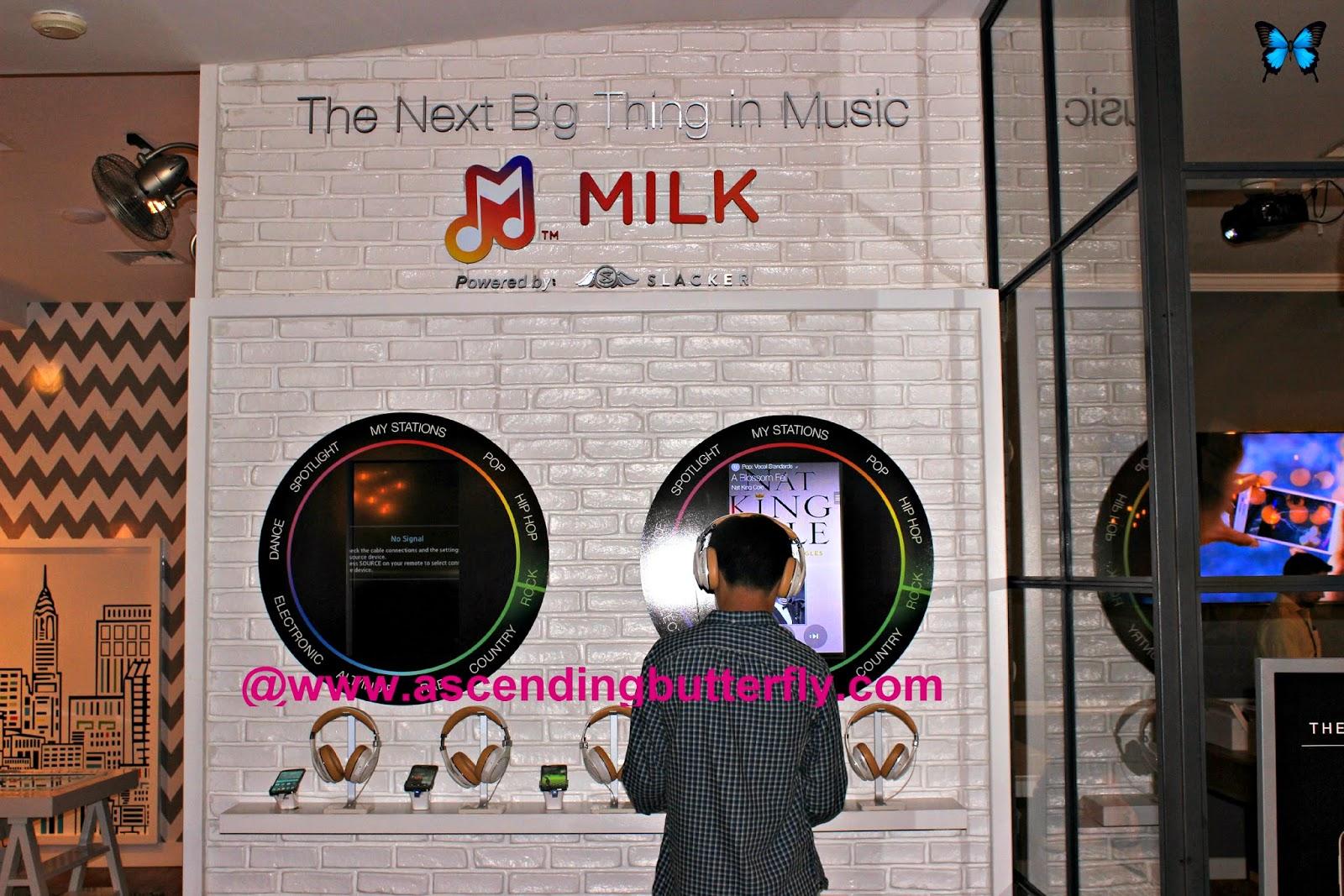 Milk Music Station at the SoHo Samsung Galaxy Studio