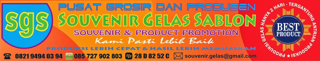 SGS Semarang - Pusat Grosir Souvenir Gelas Sablon dan MUG