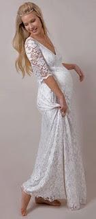 Vestidos de Novia Civil Embarazada, parte 1