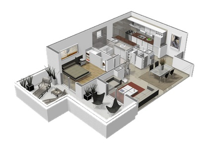 2 Bedroom Duplex Apartment Plans