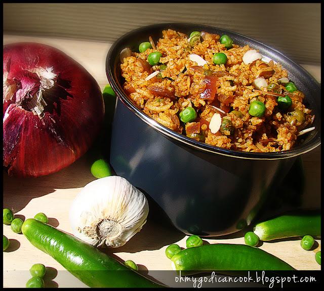 Peas Pulao / Spicy green peas pilaf