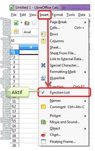 Menampiklan formula atau Function List pada OpenOffice dan LibreOffice Calc