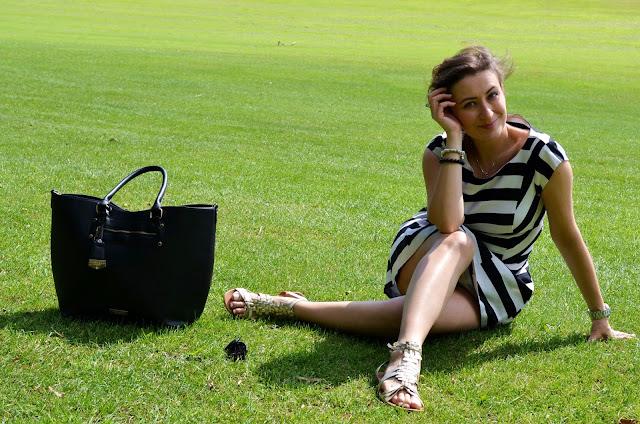 Classy Striped Dress and White Blazer***Sam Smith Lay Me Down***