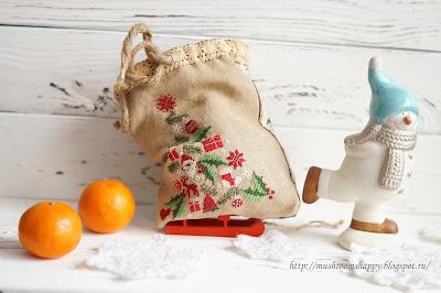 Snowman, snow, gifts, снеговик, мандарины, Новый год