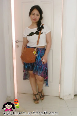High low skirt with cropped top