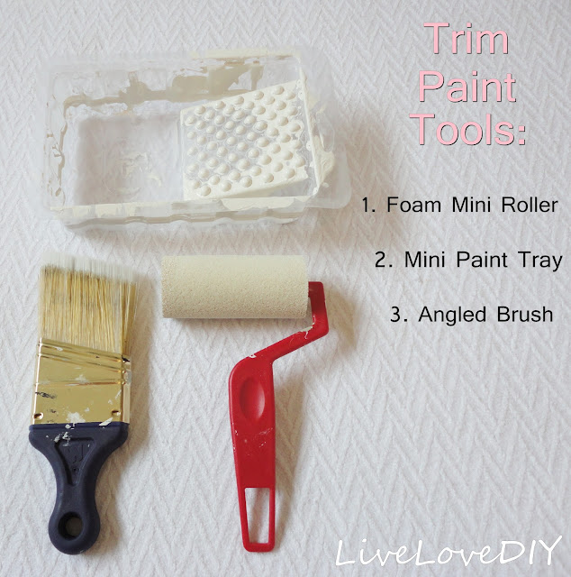 paint supplies | How To Paint Trim White and Choose Paint Colors | LiveLoveDIY
