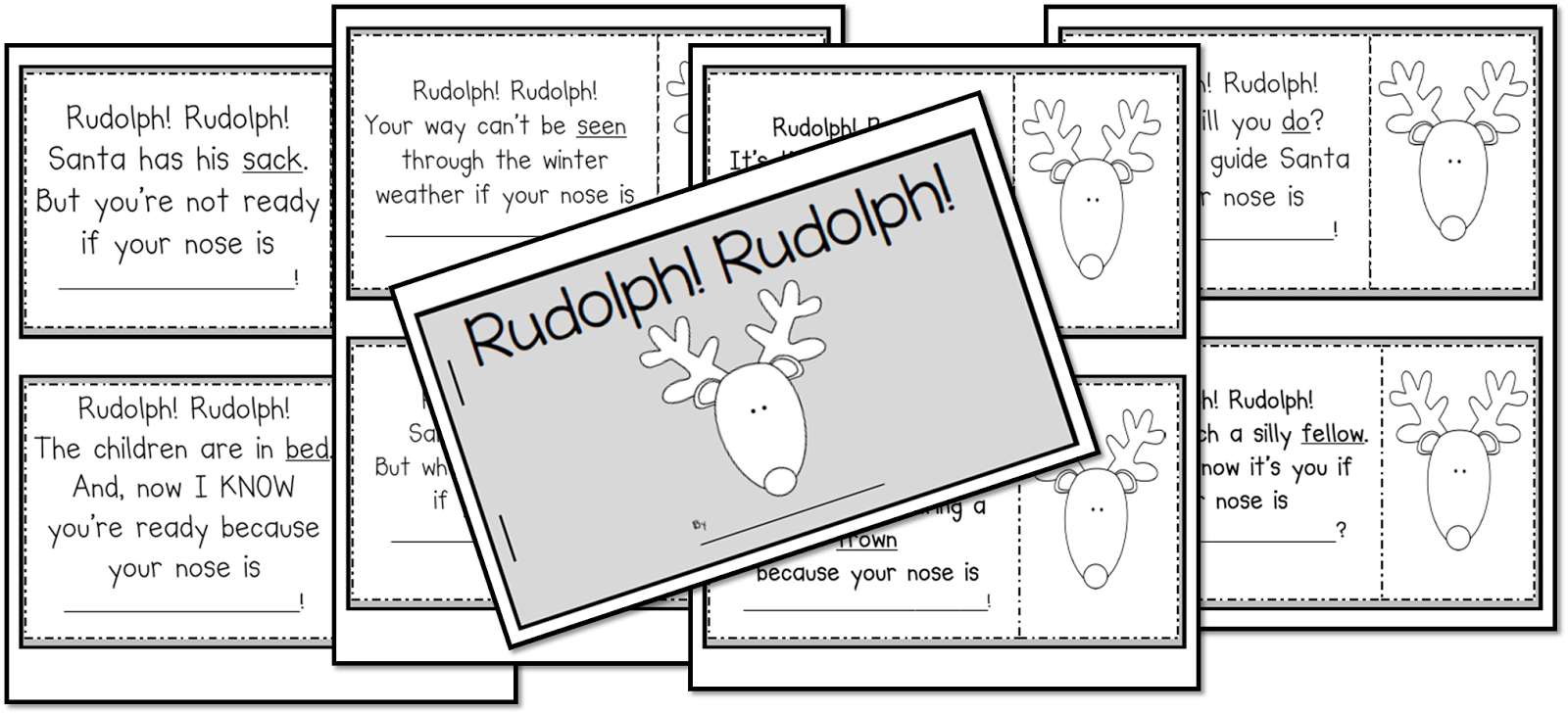 http://www.teacherspayteachers.com/Product/Rudolph-Rudolph-Rhyming-Book-459664