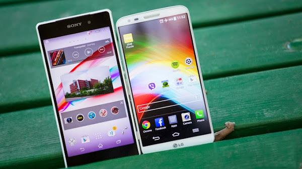 Sony Xperia Z2 vs. LG G2