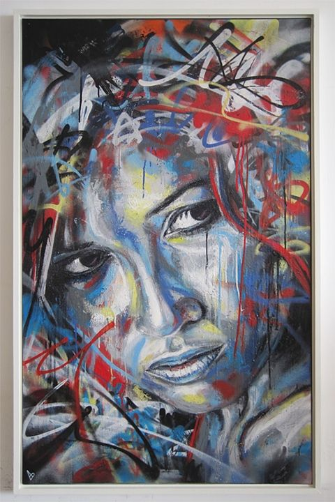 As pinturas de mulheres em spray de david walker estou for Pintura estilo industrial