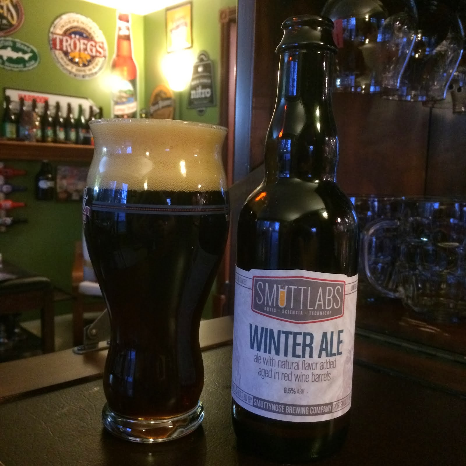 the I B U Incredible Beer Universe Smuttynose Smutt Labs Winter Ale