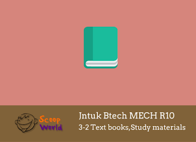 Jntu mech 3-2 text books