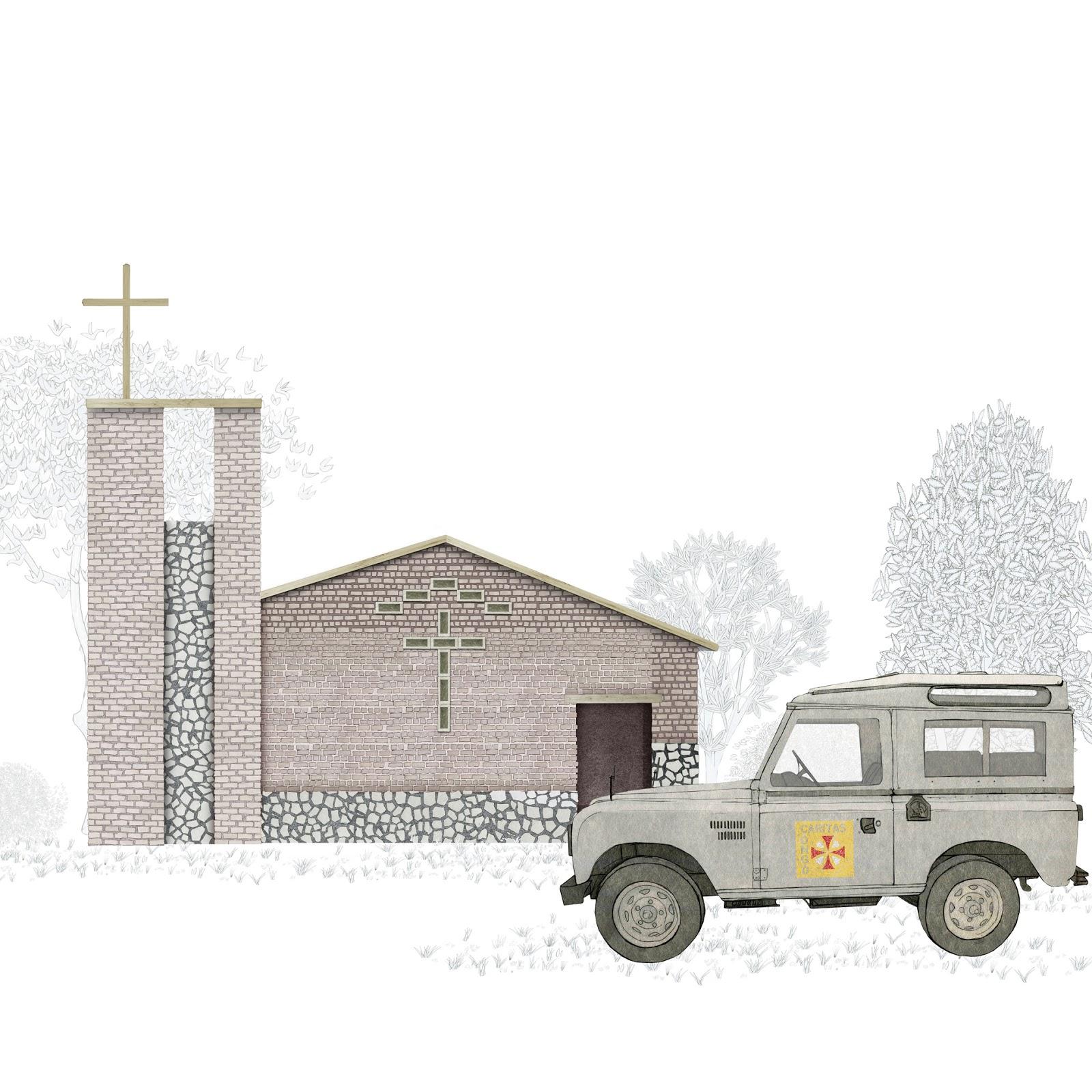 Arquitectura belga, mision,  Congo, años 60