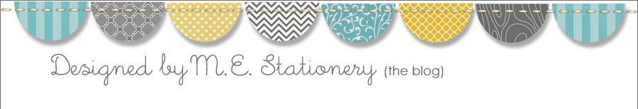 Designed By M.E. Stationery {The Blog}