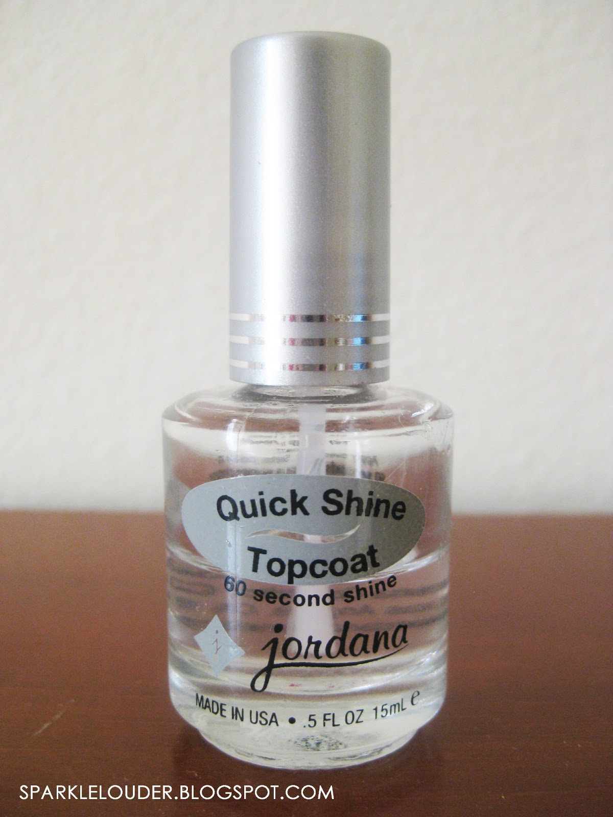 Sparkle Louder: Review On: Jordana Quick Shine TopCoat