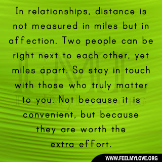 In relationships, distance is not measured