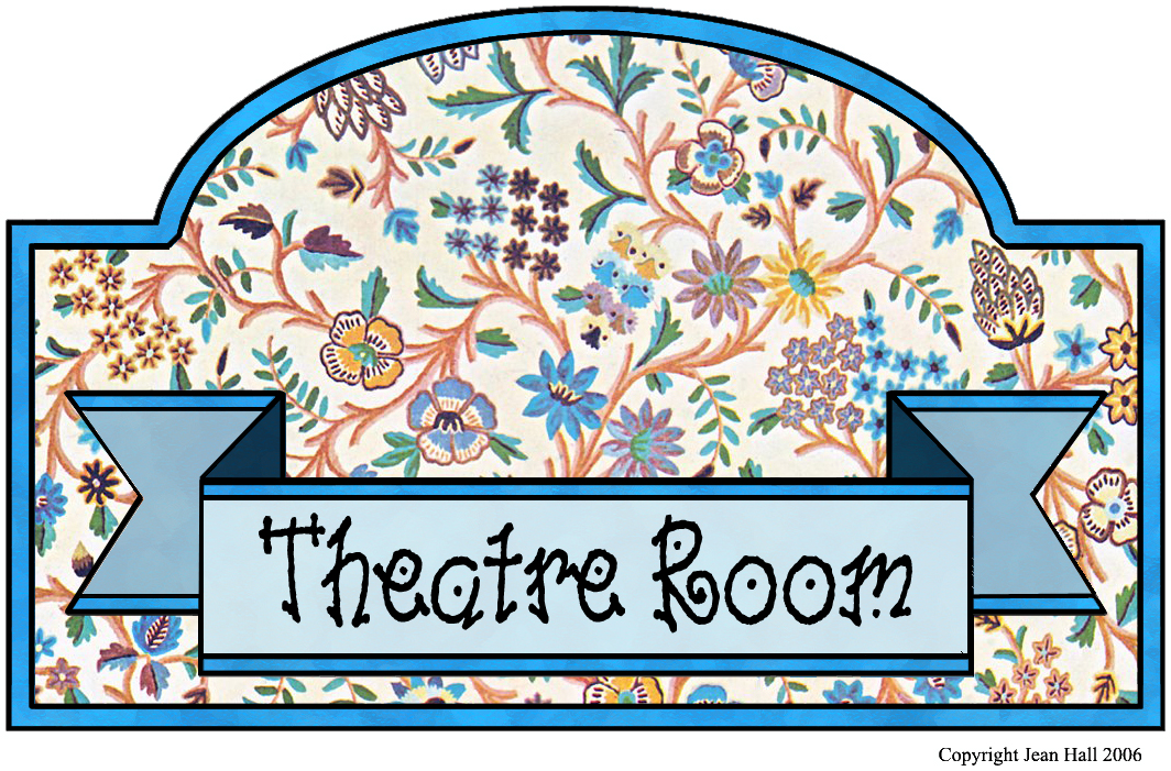Artbyjean vintage indian print for Theatre sign clipart