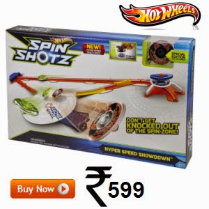 Amazon: Buy Hot Wheels Spinshotz Hyperspeed Showdown Playset 75% off at Rs.500