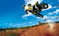 Motorcross racing jump