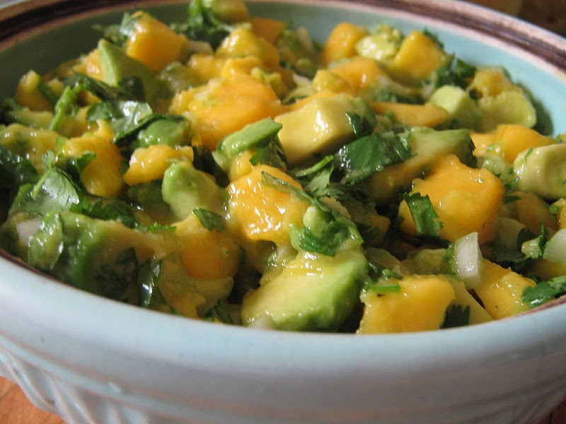 Avocado And Mango Salsa Recipe — Dishmaps