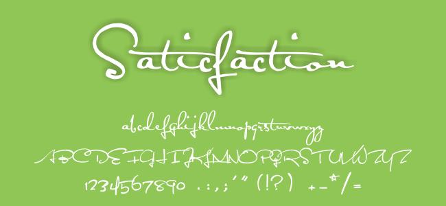 Kumpulan Font Undangan - Satisfaction Font