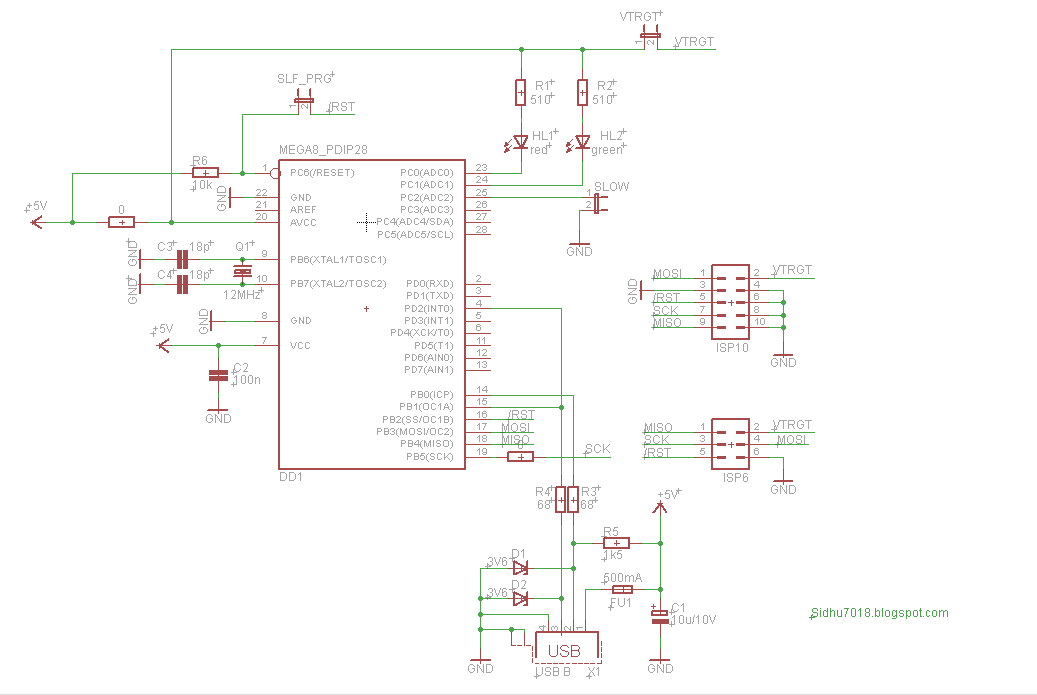 usbasp usb programmer for atmel avr controllers robomart blogcircuit diagram note make sure you burn the right fuse bit configuration along with the firmware into atmega8 microcontroller