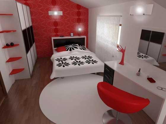 Chambre En Rouge Et Gris. Affordable Chambre Coucher Dco Rouge With ...