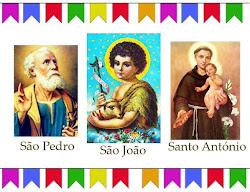 JUNHO: VIVA SANTO ANTÔNIO, SÃO JOÃO E SÃO PEDRO!!!