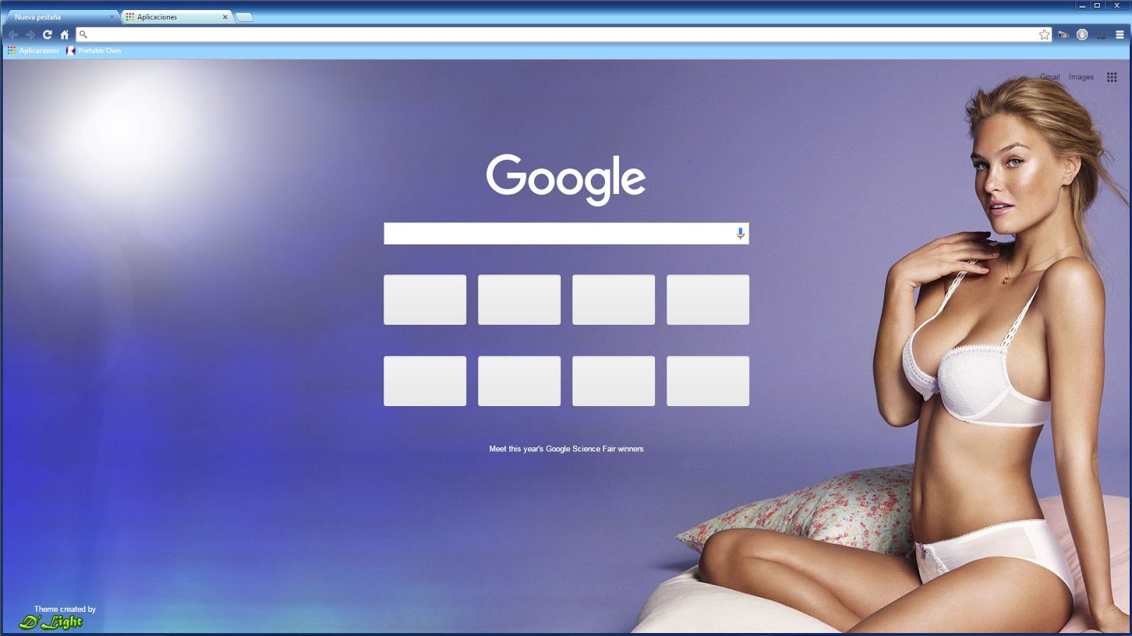 Google themes browser - Bar Refaeli Hd Theme For Google Chrome Browser