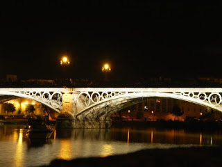 Puente de Isabel II, sevilla, spain, night