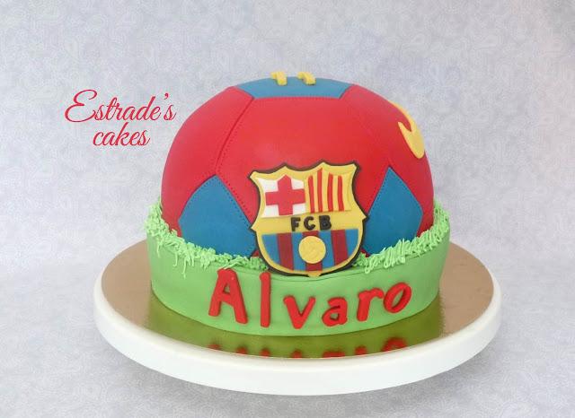 tarta balón del Barcelona 3