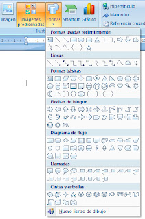 Insertar formas en Word 2007