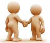 omini si stringono la mano